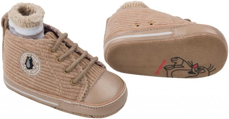 Capáčky + ponožky KRTEK Gmini vel.3 - HNĚDÁ