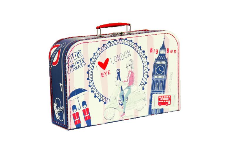 Kazeto Dětský kufřík Londýn 35 cm červeno-modrý