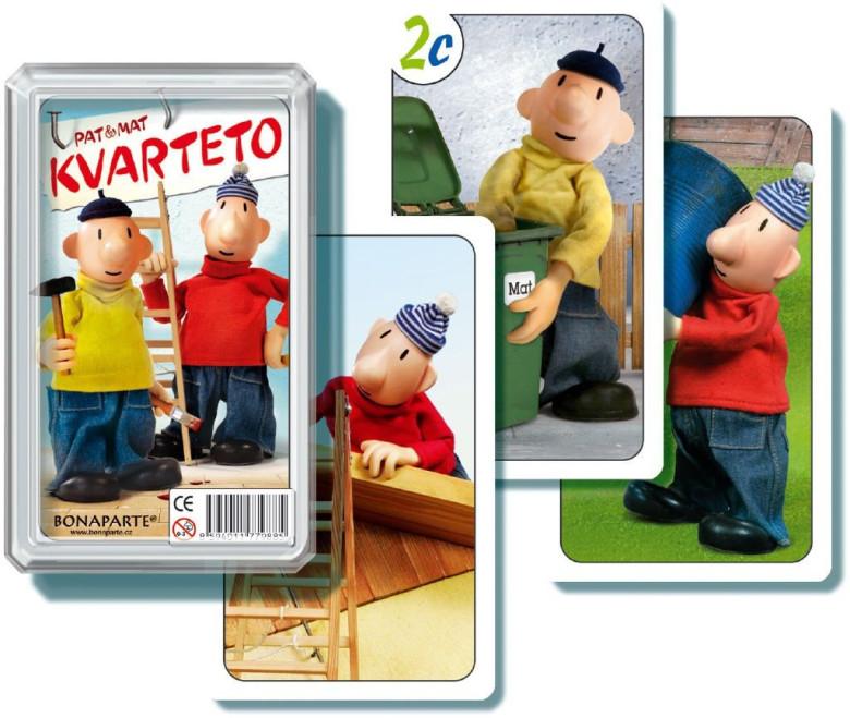Kvarteto Pat a Mat I - společenská hra - karty v plastové krabičce