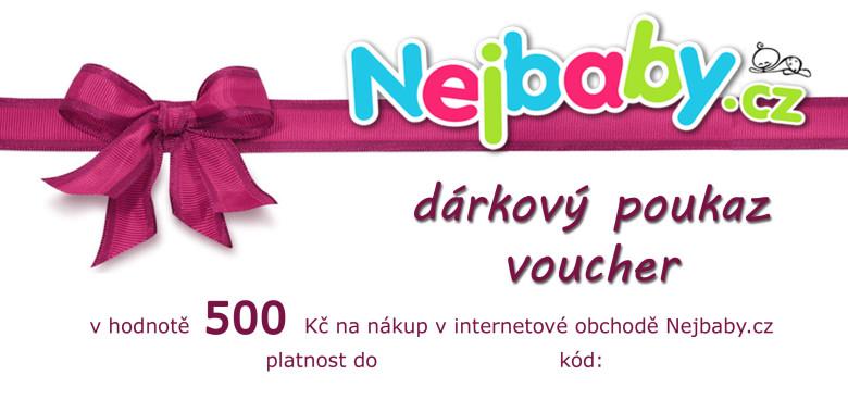 Dárkový poukaz na nákup v našem eshopu Nejbaby.cz v hodnotě 500 Kč
