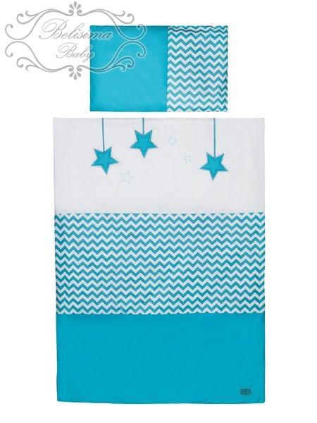 Dětské povlečení 2 dílné Belisima Hvězdička tyrkysová 135 x 100 cm