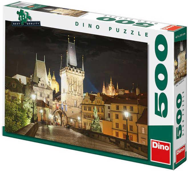 Puzzle Praha v noci 47x33cm 500 dílků