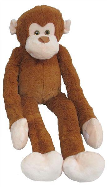 Mac Toys Plyšová opice dlouhá ruka 100 cm, světle hnědá
