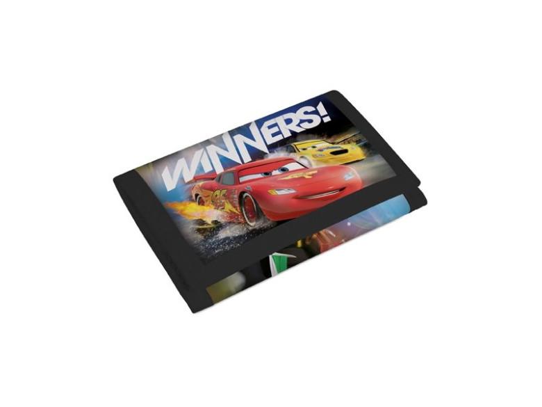 Peněženka na suchý zip Cars