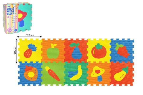 878be90a5 Pěnové puzzle Ovoce 32x32cm 10 ks | Nejbaby.cz