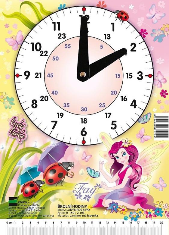 Hodiny školní Fay - Ladybirds