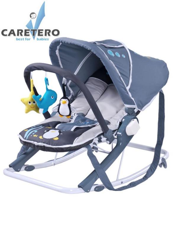 Dětské lehátko CARETERO Aqua grey nezobra