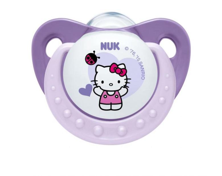 Šidítko uklidňující silikonové Trendline Hello Kitty 6 - 18 m