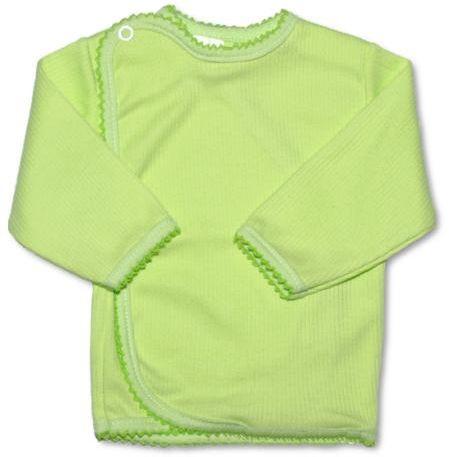 Kojenecká košilka zavinovací vel. 50 PROUŽKY ZELENÁ