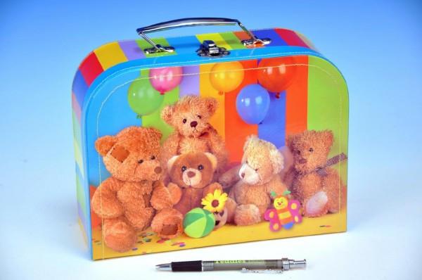 Kufřík Medvídci šitý 25x18,5x9cm