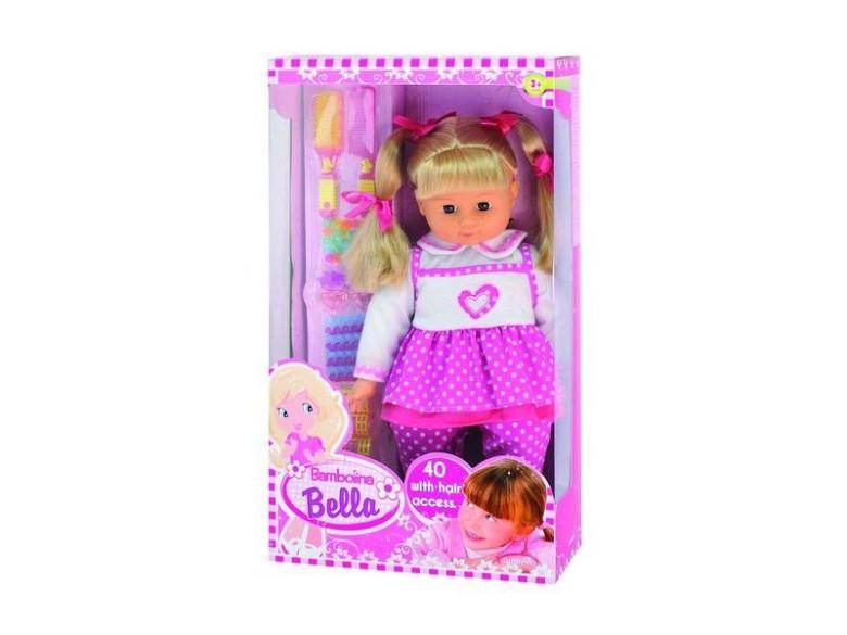 Panenka Bambolina Bella 46 cm se 40 vlasovými doplňky