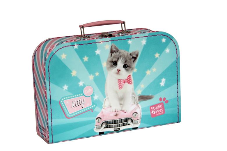 Kazeto Dětský kufřík 30 cm Kitty Cute zeleno-růžový