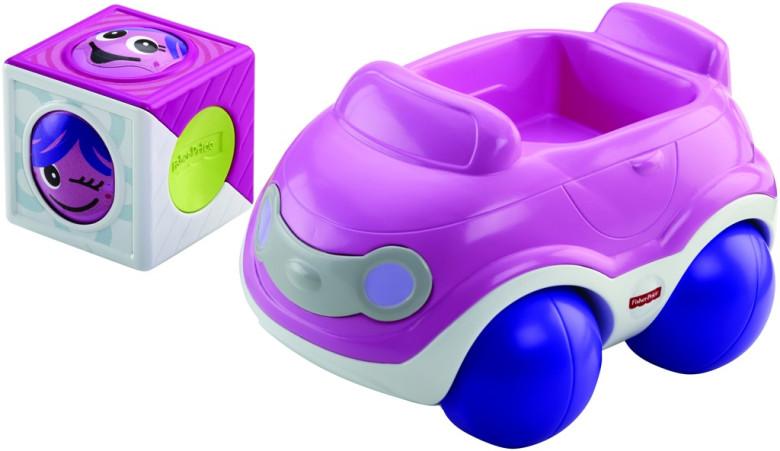 Veselá vozidla Fisher Price - růžové auto