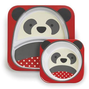 Melaminový talířek 2v1 Zoo SKIPHOP - PANDA