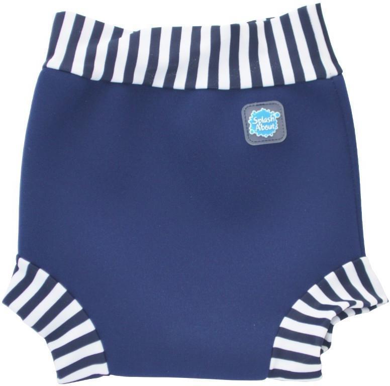 Plavky Happy Nappy - modrobílé