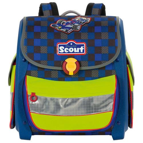 Školní aktovka Scout - Formule - modro-zelená