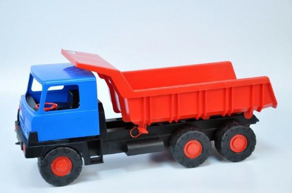 Auto Tatra 815 korba červená kabina modrá plast 75cm