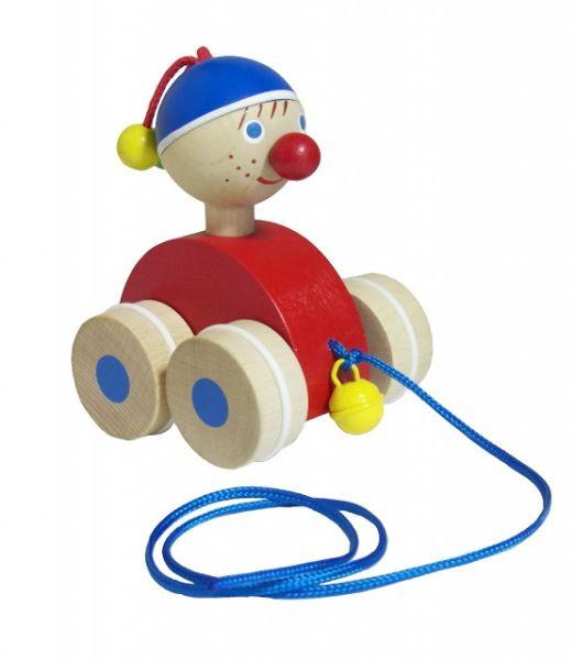 Tahací kluk - dřevěná hračka nezobra