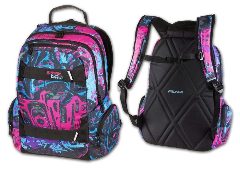 Studentský batoh Spray Day fialová Walker  7601ee188f