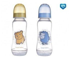 Láhev s potiskem 250ml bez BPA ŽLUTÁ