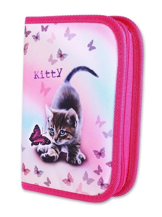 Školní pouzdro 1-klopa prázdné Kitty Emipo