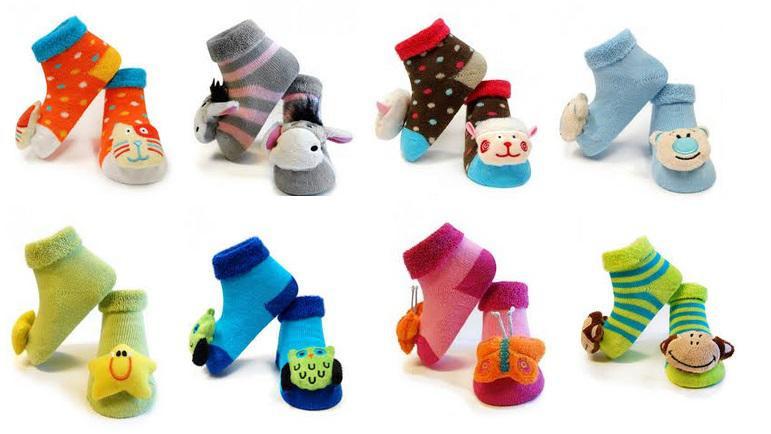 Kojenecké ponožky s chrastítkem 0-12 měsíců  defe48c201