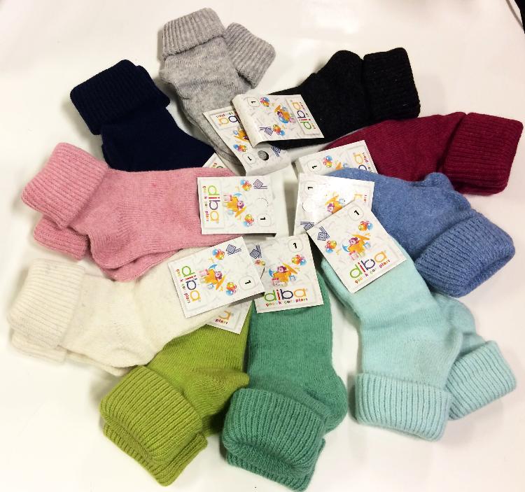 Kojenecké vlněné teplé ponožky vel. 0 (17-19) Diba  22a38c5268