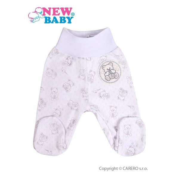 Kojenecké polodupačky New Baby Roztomilý medvídek BÍLÉ vel.68