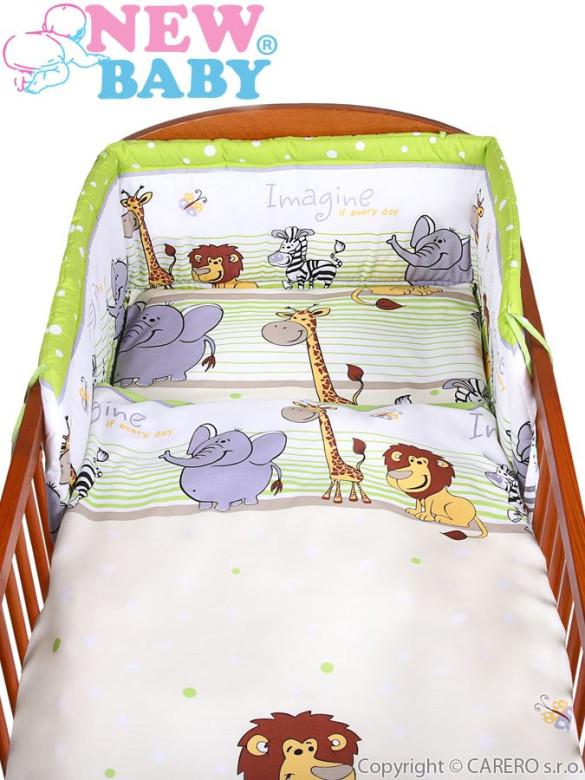 2-dílné ložní povlečení New Baby zelené Safari ZOO 135 x 100 cm nezobra