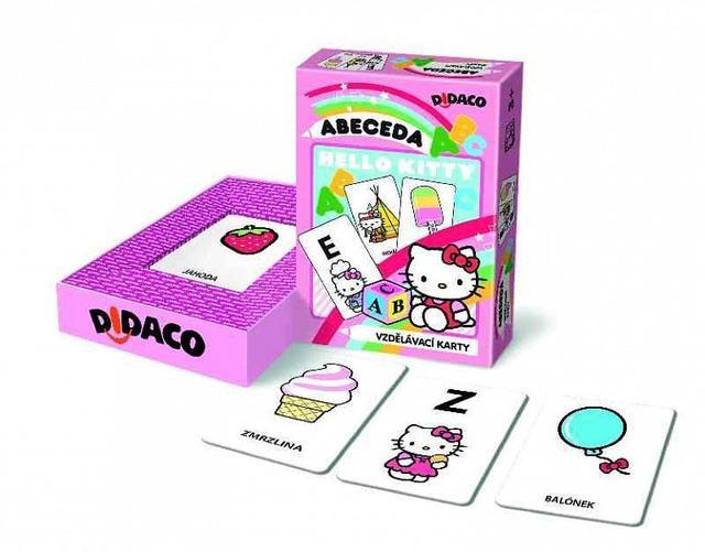 Vzdělávací karty Didaco Abeceda - Hello Kitty