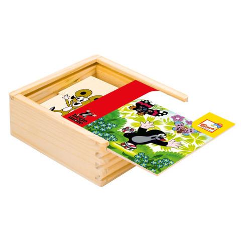 Skládačka Puzzle Krtek dřevo 16ks