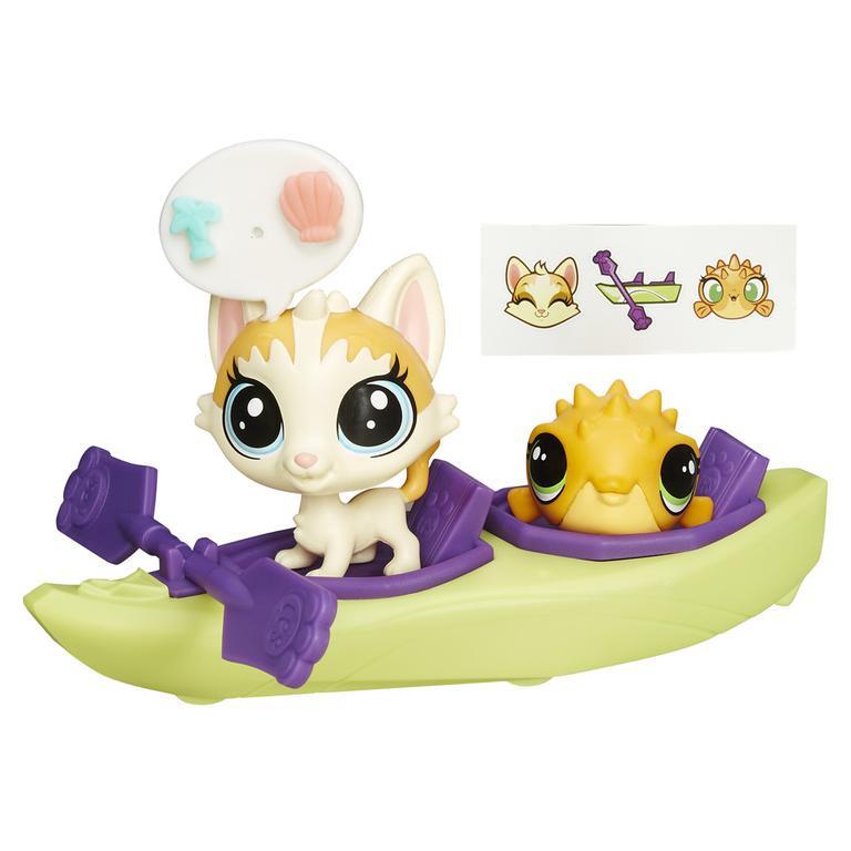 Littlest Pet Shop zvířátko s kamarádem a vozidlem -  FELENA a PUFFERY 67 + 68
