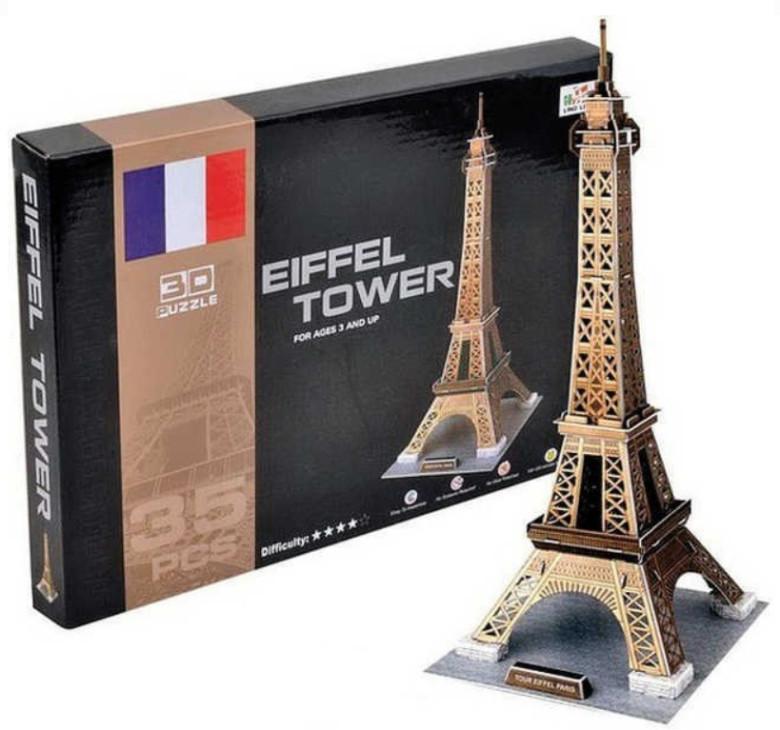 Skládanka 3D Puzzle Eiffelova věž 35 dílků