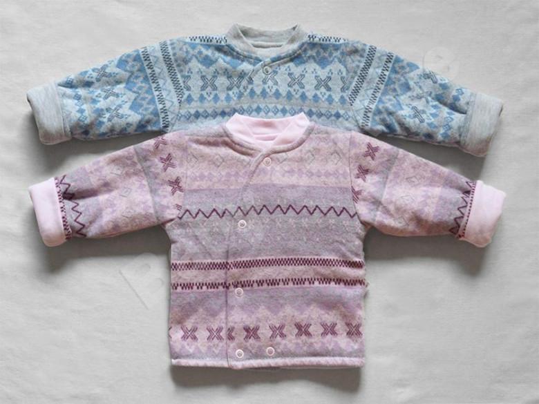 Zimní termokabátek s podšívkou Etnik Baby Service vel. 56 - 74