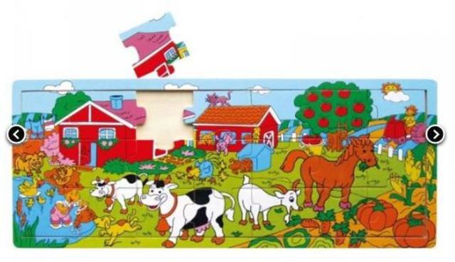 Deskové puzzle farma 21 dílků