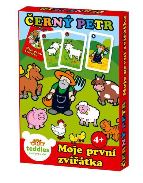 Černý Petr Moje první zvířátka společenská hra - karty v papírové krabičce