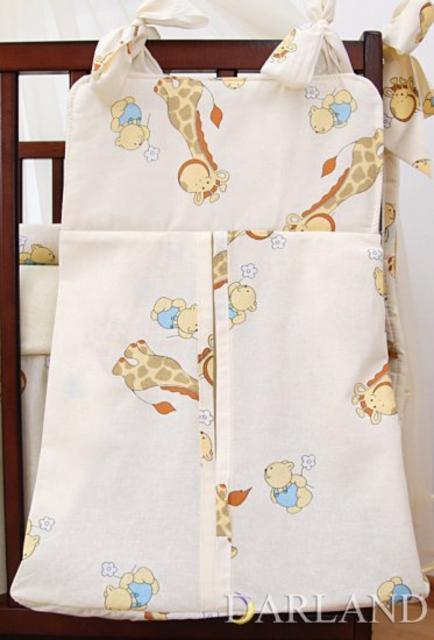 Kapsář - zásobník na pleny Žirafa žlutá bavlna