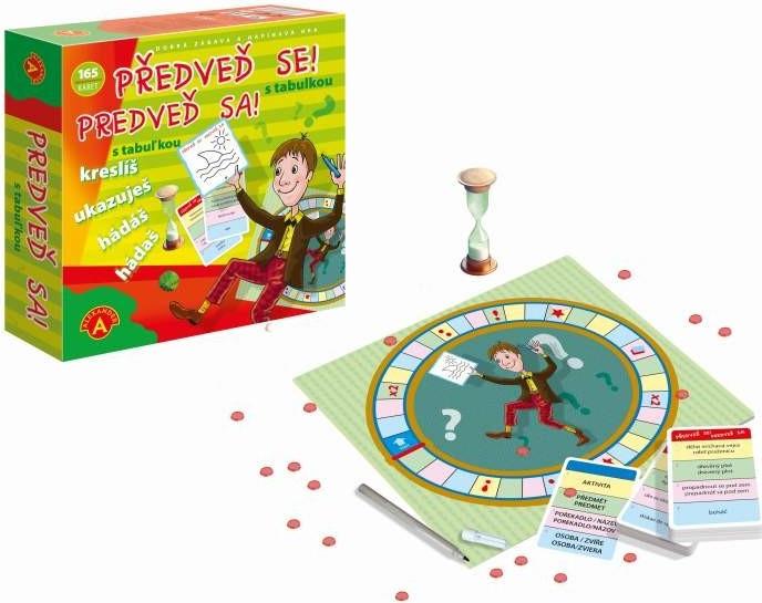 Alexander PŘEDVEĎ SE! s tabulkou společenská hra