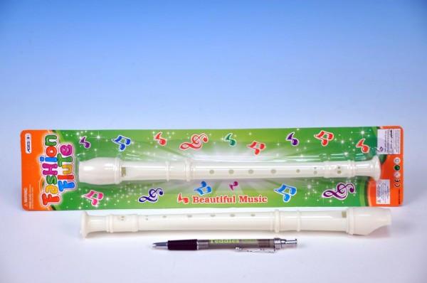Flétna plastová 30 cm bílá