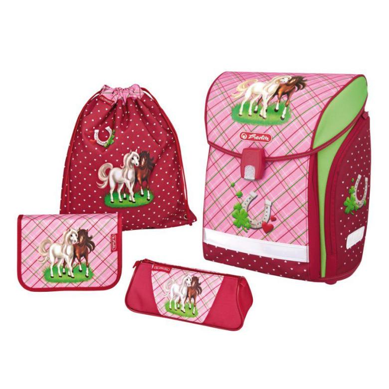 Školní batoh Herlitz Midi koně vybavený SET  d9e61a5aca