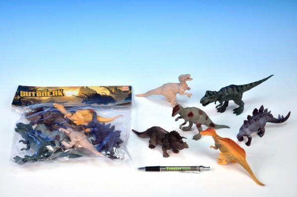 Dinosaurus plast 15-17cm 6ks v sáčku