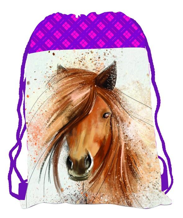 Sáček (nejen) na cvičky Kůň