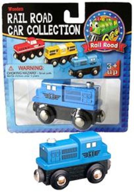 Lokomotiva dieselová modrá