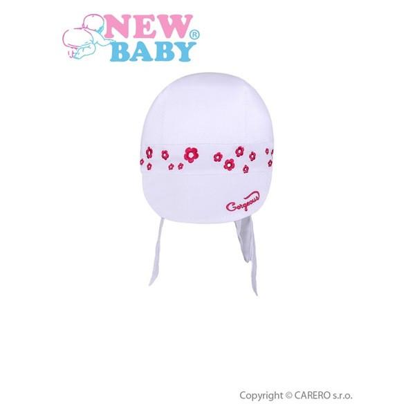 Letní dětská čepička- šátek New Baby Gorgeous vel. 110 BÍLÁ