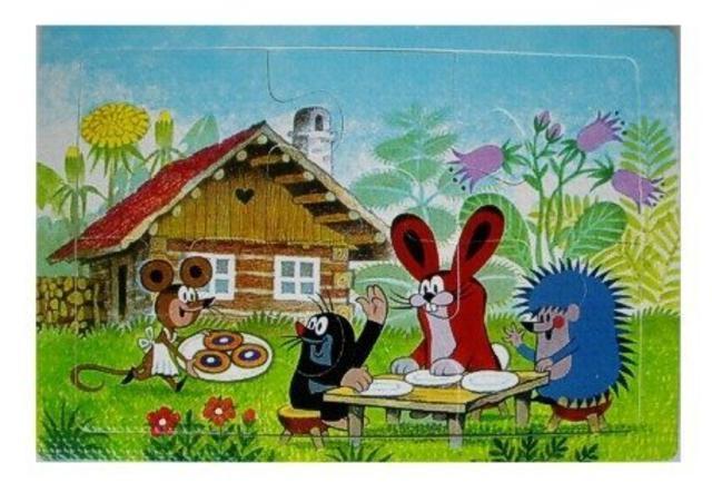 Pěnové puzzle KRTEK 6dílků U DOMEČKU