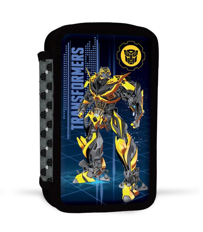 Dvoupatrový penál plný Transformers ŽLUTÝ
