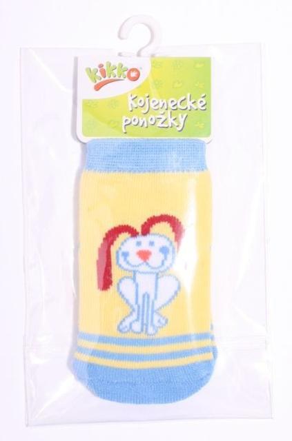 Kojenecké ponožky bavlna KIKKO 0-6 m PEJSEK typ 8