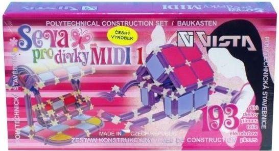 Stavebnice Seva pro dívky MIDI 1 193 dílů  1c227bd007