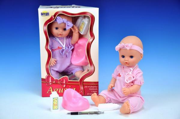 Panenka Agusia miminko pevné tělo 38cm s doplňky nezobra