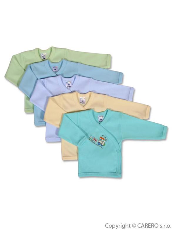 Kojenecká košilka Amma Train vel. 62 modrá (máme jiné barvy)